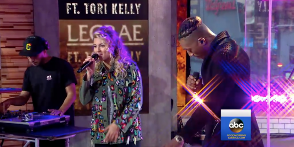 """Lecrae and Tori Kelly Perform on """"Good Morning America"""""""